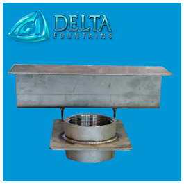 Stainless Steel Sidewall Suction Fitting with AV Plate