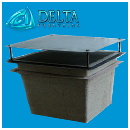 Delta Fountains Stainless Steel Suction Sump Anti-Vortex Plate