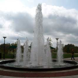 University of Southern Indiana's Robert M. Kent Family Fountain