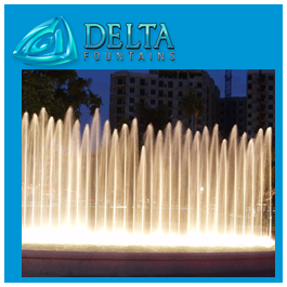 Delta Fountains Young Arts Circle Synthetic Geyser Fountain