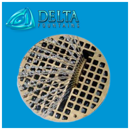 Dleta Fountains Grate with Finger Jet