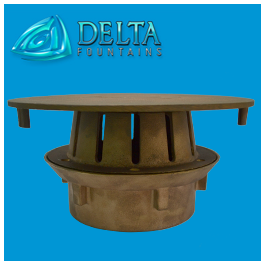 Drain Suction Fitting Bronze Diverter Plate