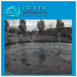 Elmhurst Park Gas Tank Park Fountain