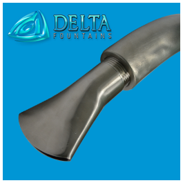 Fan Jet Nozzle Goose Neck | Delta Fountains