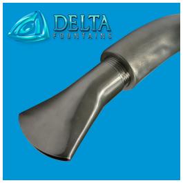Fan Jet Nozzle Goose Neck | Delta Fountains