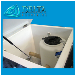 Fiberglass Chemical Containment Tank Fountains
