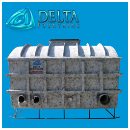 Collector Tank (side view) | Delta Fountains