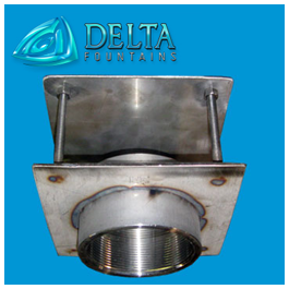 Fountain Parts | Discharge Fitting with Diverter Plate