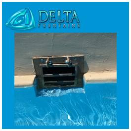Fountain Skimmer With Lockable Face Plate