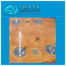 Ground Effect Nozzle Jets Delta Fountains