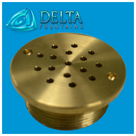 Ground Effect Shower Head Insert Bronze