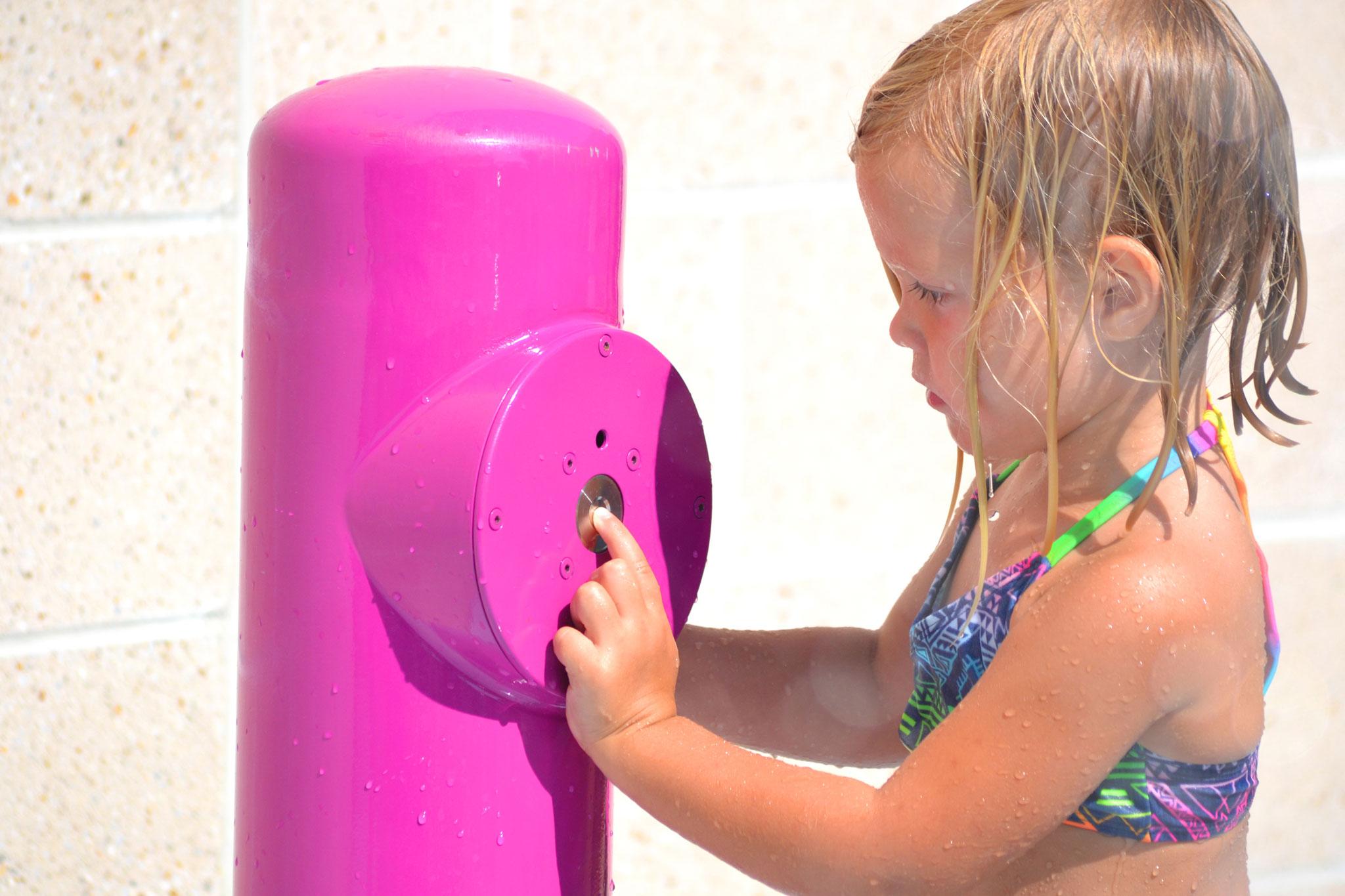 Interactive Fountain Splash Pad Activation Bollard