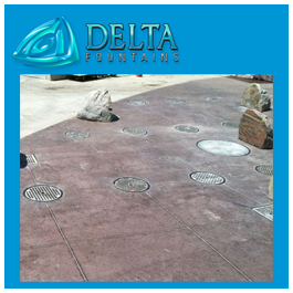 Interactive Water Feature Metal Round Grate