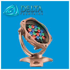 LED Color Changing Fountain Light Delta Fountains
