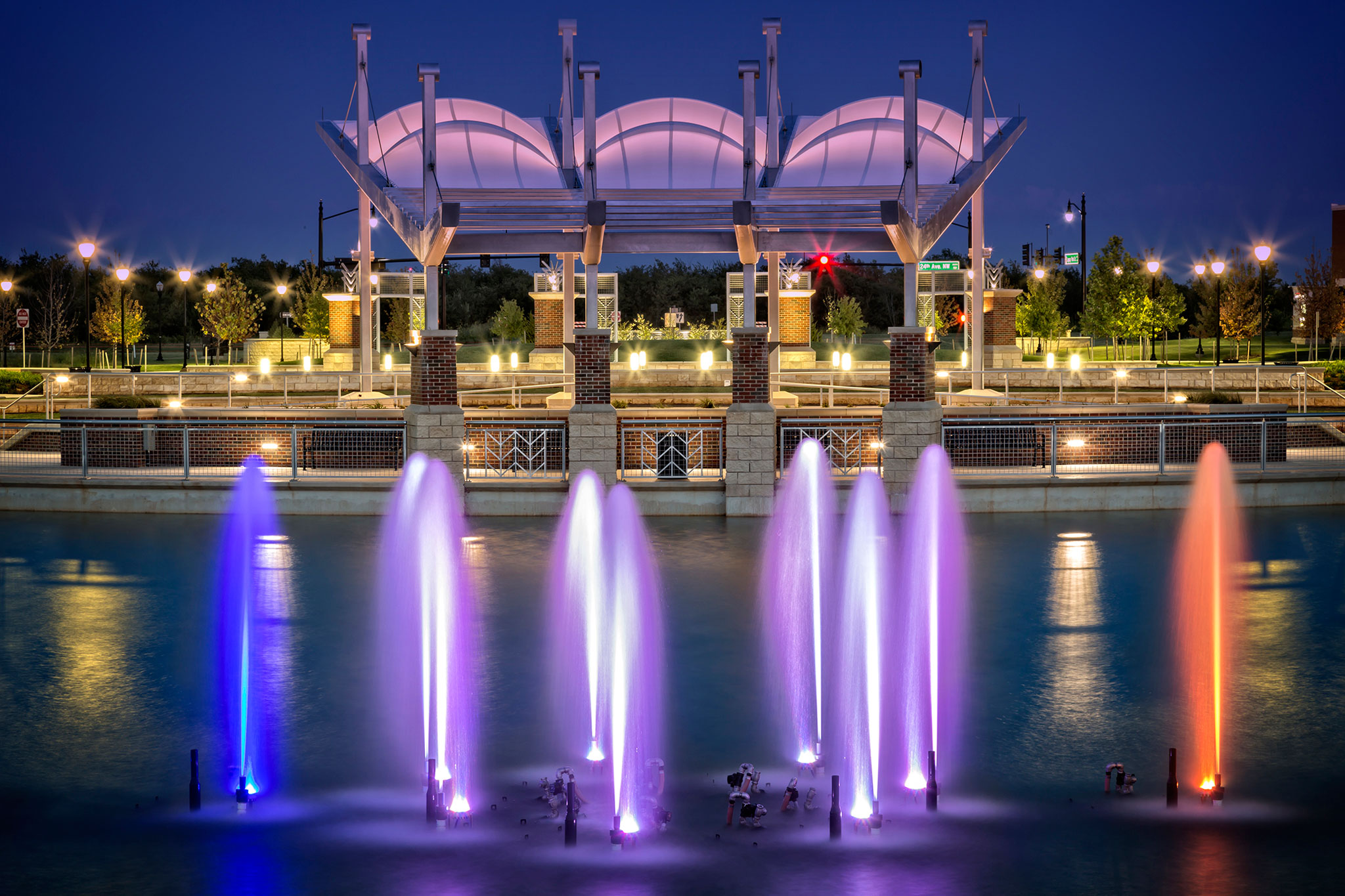 Legacy Park Norman Oklahoma Water Show |Delta Fountains