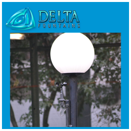 Light Post Mounted Fountain Anemometer