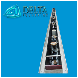 Linear Nozzle Well | Delta Fountains