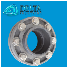 Mated Flanges for Water Stop Delta Fountains