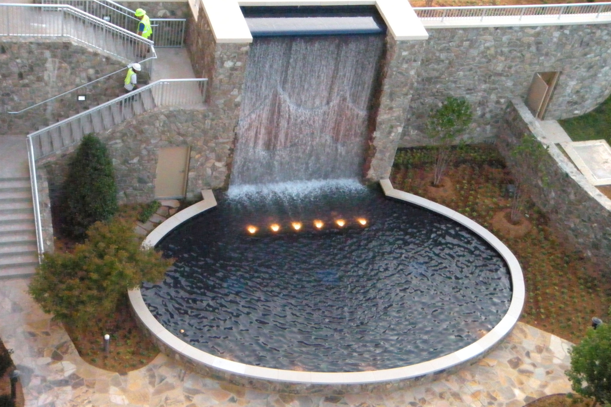 Hospital Garden Design Water Feature
