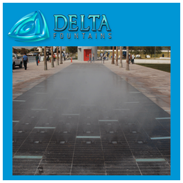 Mist System Dry Deck Fountain