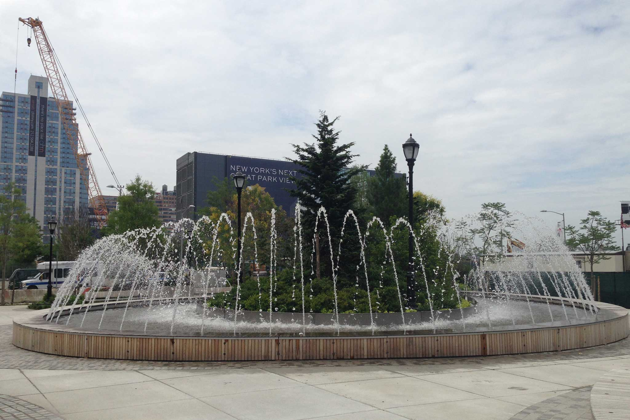 Hudson Park Boulevard Water Feature Design Delta