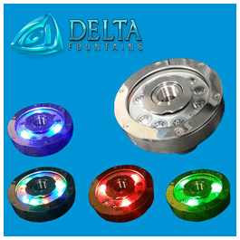 Delta Fountains RGB LED Fountain Ring Light