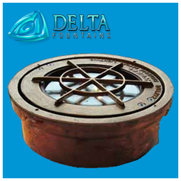 Niche Mounted Fountain Light Delta Fountains