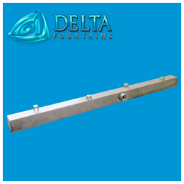 Rain Curtains Discharge Trough | Delta Fountains