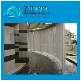Curved Rain Curtain Water Feature