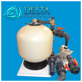 Sand Filter with Automatic Backwash Linkage