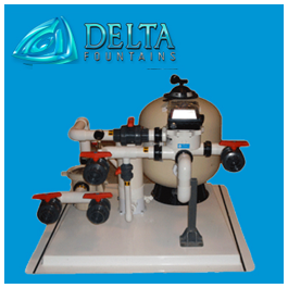 Sand Filter with Automatic Backwash Valve Delta Fountains