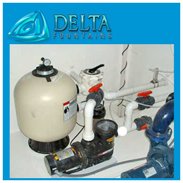 Sand Filters with manual backwash valve