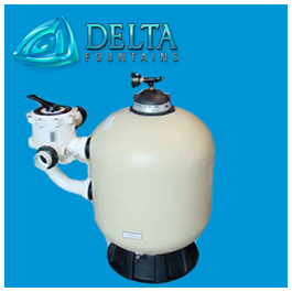 Sand Filter with manual backwash valve