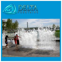 Scrim Interactive Fountain Design at The Yards