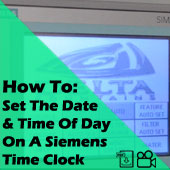 How To Set The Date & Time Of Day On A Siemens Time Clock