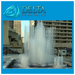 Hopkins Plaza Geometric Spray Bar Fountain