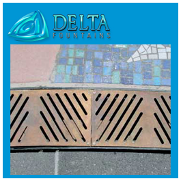 Square Fountain Sump Grate Custom Metal