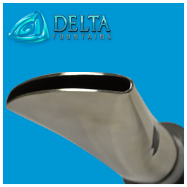 Stainless-Steel-Fan-Jet-Nozzle Delta Fountains