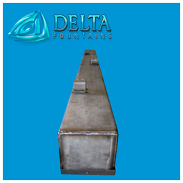 Stainless Steel Rain Custains Discharge Trough
