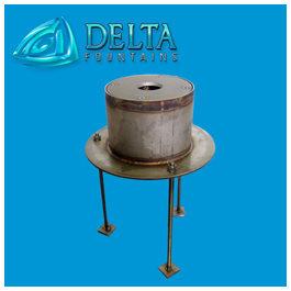 Low Profile Stainless Steel Sump with Nozzle | Delta Fountains