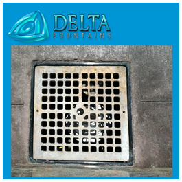 Suare Fountain Metal Grate