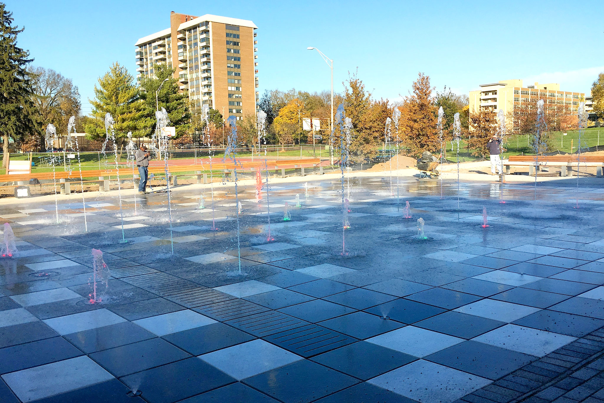 Tarkington Park Interactive Fountain