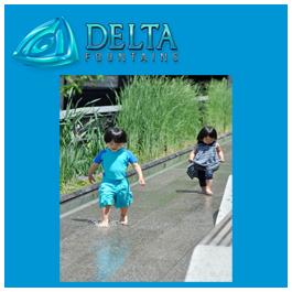 The Highline Scrim Water Feature Design Delta Fountains