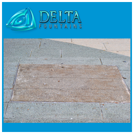 Tile Set Hatch with Pavers | Delta Fountains