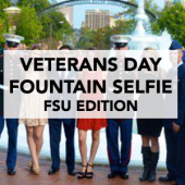 Veterans Day Fountain Selfie FSU