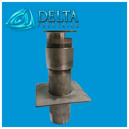 Water Discharge Fitting with Diverter Plate