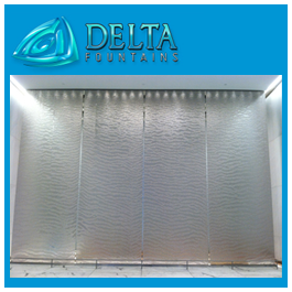 Textured Glass Indoor Water Wall