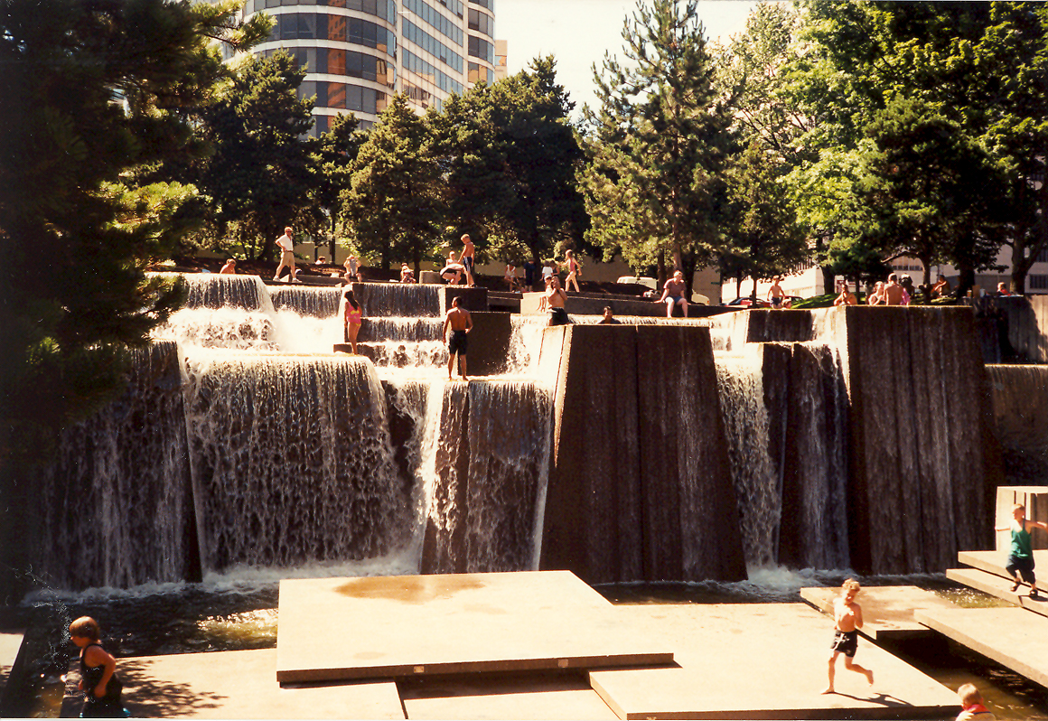 Keller Fountain has been a popular example of active design since the 70s.