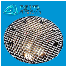 Delta Fountain Sump Grate with Nozzle and Lights