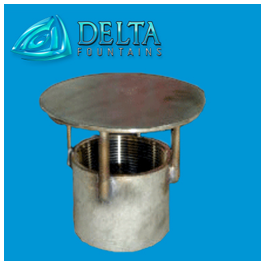 Delta Fountains Custom Inlet Fitting with Diverter Plate